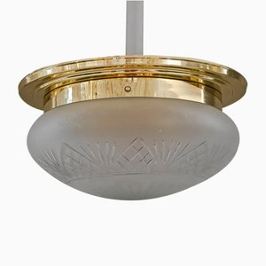 Große Deckenlampe im Art Deco Stil, 1920er