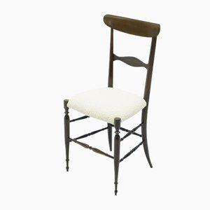 Chaises de Salon Campanino en Noyer par Giuseppe Gaetano Descalzi pour Fratelli Levaggi, 1950s, Set de 4
