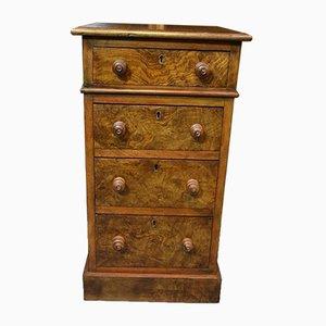 Tables de Chevet Antique en Broussin de Noyer, Set de 2