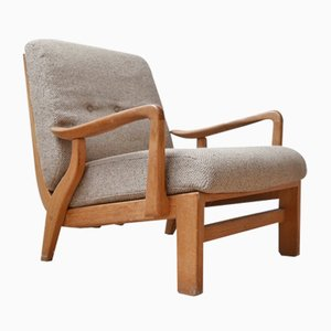 French Armchair by Guillerme et Chambron, 1960s