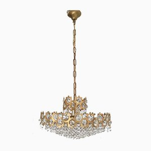 Vintage Finnish Crystal Glass Chandelier