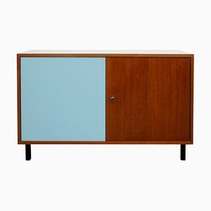 Small Teak and Light Blue Formica Sideboard, 1960s