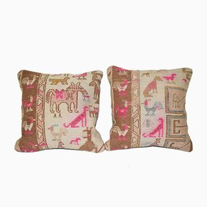 Animal Kilim Cushion Covers, Set of 2