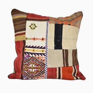 Funda Kilim de patchwork con relleno