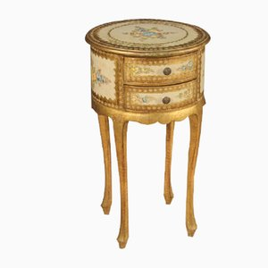 Italian Lacquered, Gilded, and Painted Side Table, 1960s