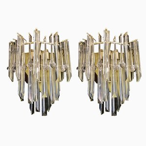 Large Gilded Sconces by Paolo Venini, 1980s, Set of 2