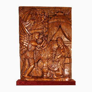 Antique Portuguese Annunciation Altarpiece, 1600s