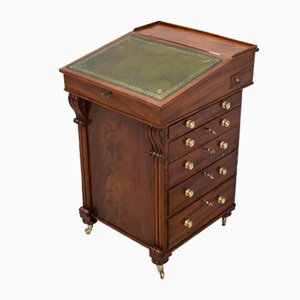 19th Century English Mahogany Davenport Secretaire