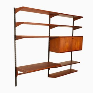 Libreria modulare in teak di Kai Kristiansen per Feldballes Møbelfabrik, anni '60