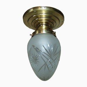 Lámpara de techo Art Déco vintage de latón