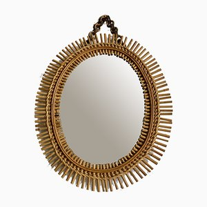 Wicker Mirror, 1960s