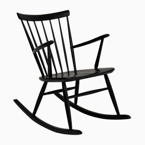 Vintage Swedish Rocking Chair by Roland Rainer for Hagafors, 1960s