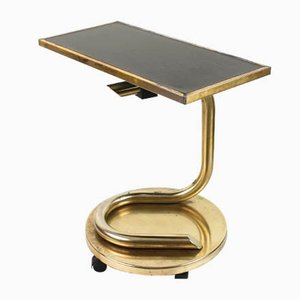 Mid-Century Brass Anaconda Table with Swivel Tray by Paul Tuttle, 1970s