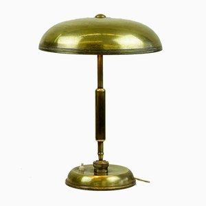 Lampe de Bureau Mid-Century en Laiton par Giovanni Michelucci pour Lariolux, 1940s