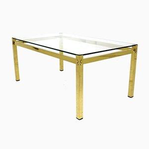 Swedish Metal and Glass Coffee Table, 1970s