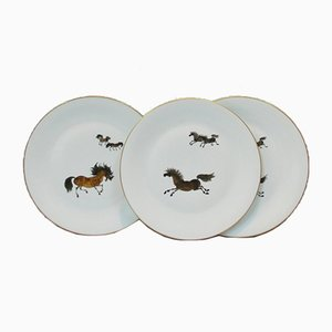 Vintage Porcelain Plates from Limoges, Set of 3