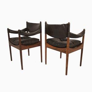 Mid-Century Palisander Armlehnstühle von Kristian Vedel für Søren Wiladsen, 1960er, 4er Set