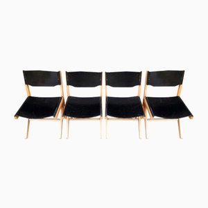 Dining Chairs by Nulangee- Babacar Niang for Baumann, 1980s, Set of 4