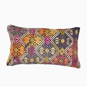 Lumbar Cicim Kilim Cushion Cover