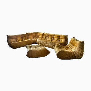 Togo Living Room Set by Michel Ducaroy for Ligne Roset, 1970s, Set of 5