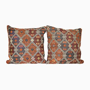 Turkish Jajim Cushion Covers, Set of 2