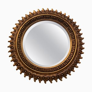 Spanish Giltwood Sunburst Double Mirror, 1950s