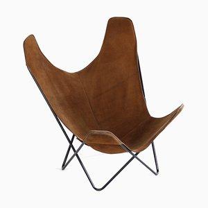 Brown Suede BKF Butterfly Chair by Jorge Ferrari-Hardoy, Juan Kurchan & Antonio Bonet, 1970s