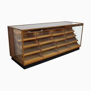 Oak Haberdashery Shop Cabinet or Retail Unit, 1950s