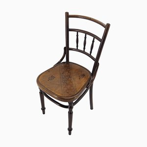 Antique Bentwood Dining Chair from Fischel, Austria, 1900s