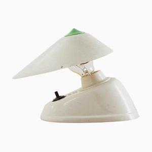 Weiße Mid-Century Bakelit Tisch- oder Wandlampe, 1960er