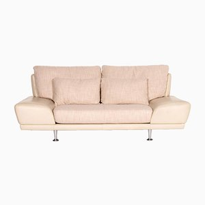 Cream Leather 2-Seat Sofa from Rolf Benz