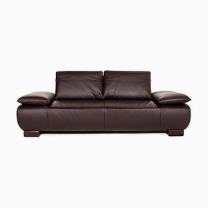 Dark Brown Leather Volare 3-Seat Sofa from Koinor