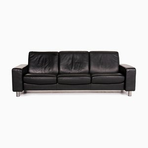 Black Leather 3-Seat Relax Function Sofa from Stressless