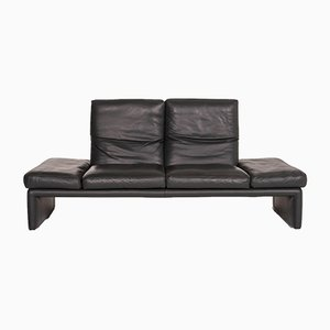 Anthracite Grey Leather Raoul 2-Seat Sofa from Koinor