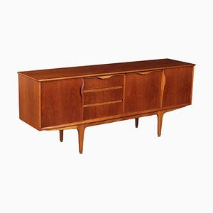 English Beech and Teak Veneer Sideboard, 1960s