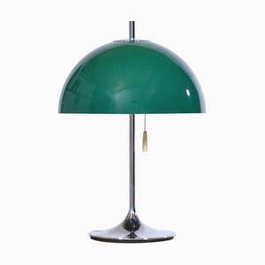 Lampe de Bureau Space Age en Chrome et Vert par Frank J. Bentler pour Wila, 1960s