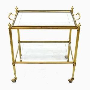 Italian Brass Bar Cart, 1960s