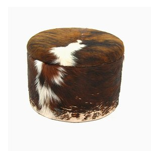 Leather Pouf, 1980s
