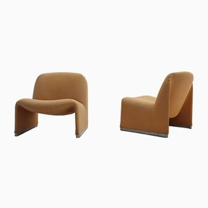 Mid-Century Alky Armchairs by Piretti for Castelli / Anonima Castelli, 1960s, Set of 2
