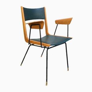 Chaise de Bureau Boomerang Mid-Century par Carlo de Carli, Italie, 1950s