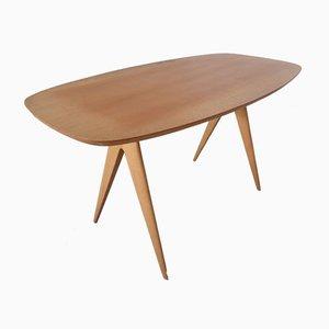 Italian Beech Side Table, 1960s