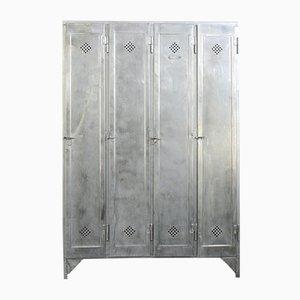Industrieller Spind mit 4 Türen von Otto Kind, 1920er