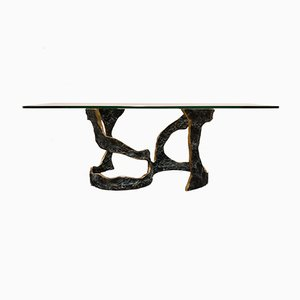 Brutalist Bronze Coffee Table, 1970s