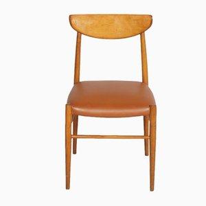 Italienische Schreibtischstühle im Stil von Peter Hvidt & Orla Mølgaard-Nielsen, 1950er, 2er Set