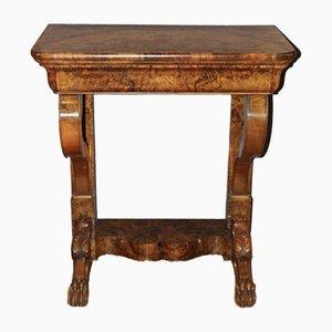 Louis Philippe Burl Walnut Console Table