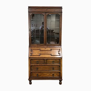 Art Deco English Oak Secretaire, 1930s