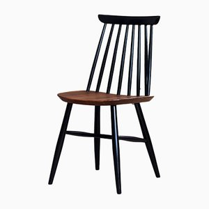 Spindle Back Dining Chairs by Marian Grabiński for Fameg, 1960s, Set of 4