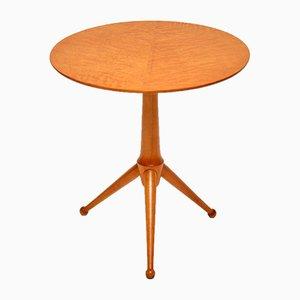 Vintage Burl Maple Tripod Side Table, 1960s