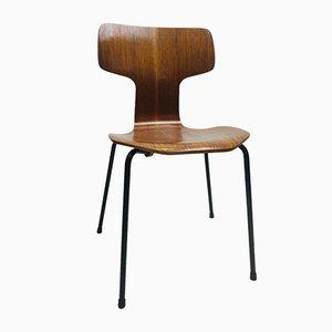 Chaise d'Appoint Modèle 3103 Hammer par Arne Jacobson pour Fritz Hansen, 1960s