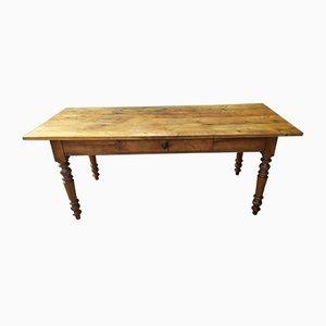 Table de Ferme Antique en Acajou